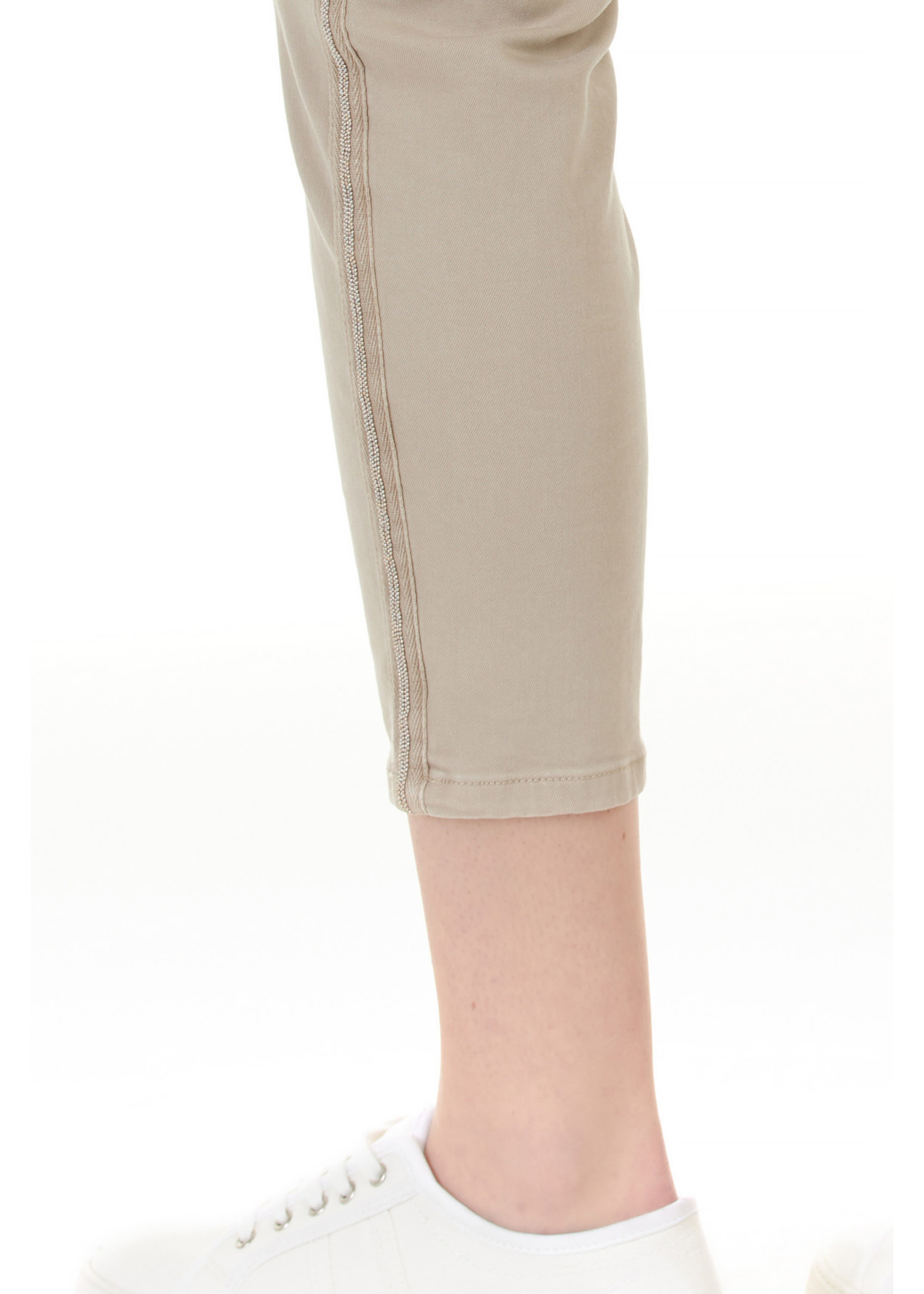 Charlie B Greige Twill With Side Detail