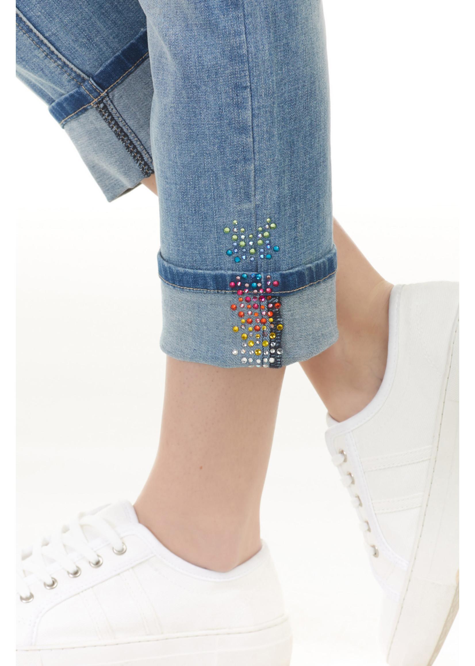 Charlie B Multicolour Sequins Detail Jean