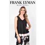 Frank Lyman Black/Blush Woven Top