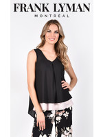 Frank Lyman Black/Blush Woven Top