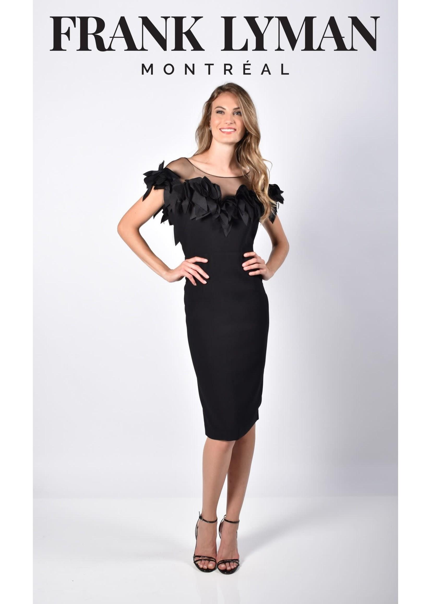 Frank Lyman Black Woven Dress