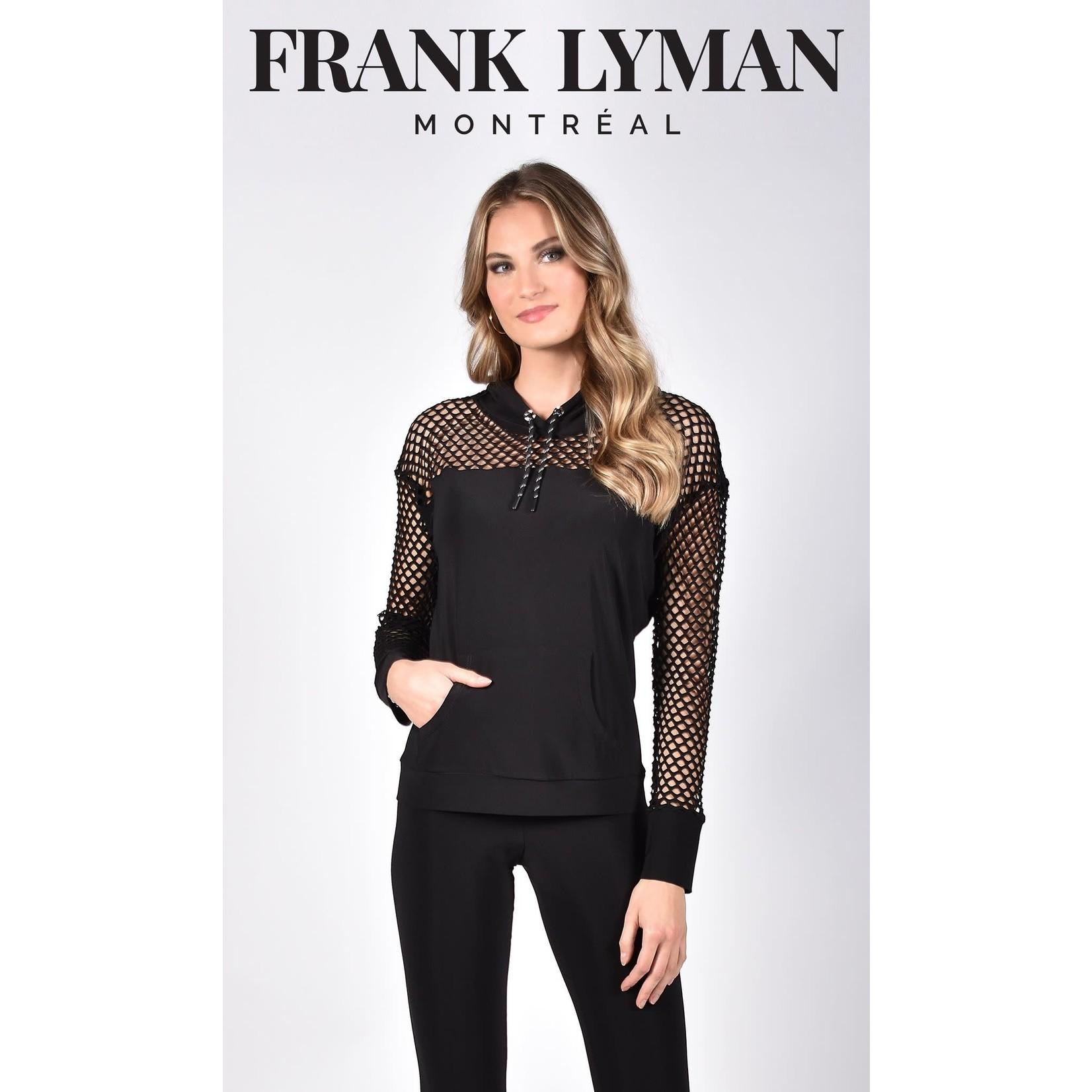 Frank Lyman Black Knit Top With Hood