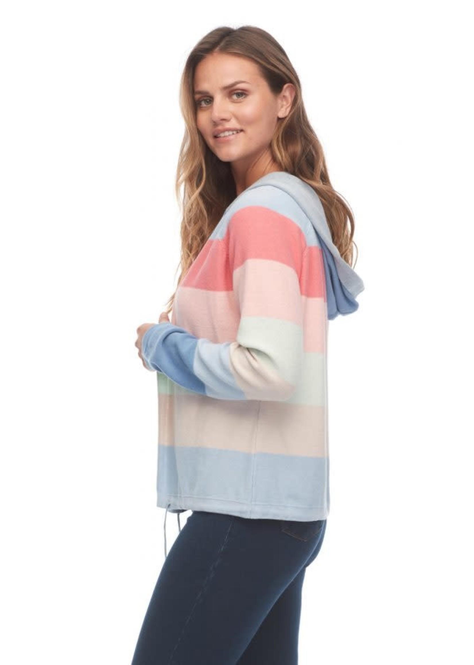 FDJ Rainbow Stripe Hoodie Cardigan
