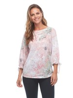 FDJ Pastel Print Fancy Sleeve Top