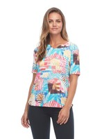 FDJ Jungle Foliage Print Top