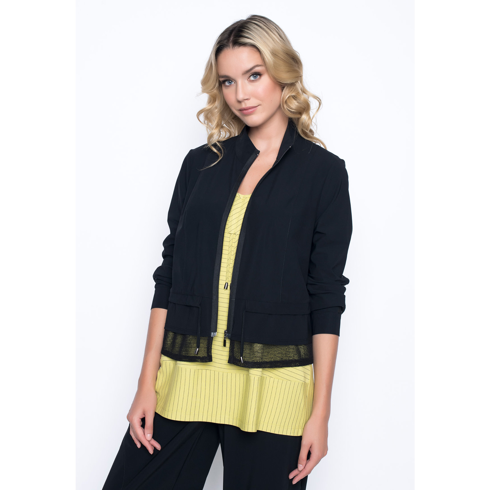 Picadilly Zip Front Jacket With Mesh Bottom