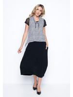 Picadilly Asymmetrical Balloon Skirt Black