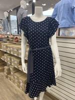 Devia Navy Polka Dot Dress