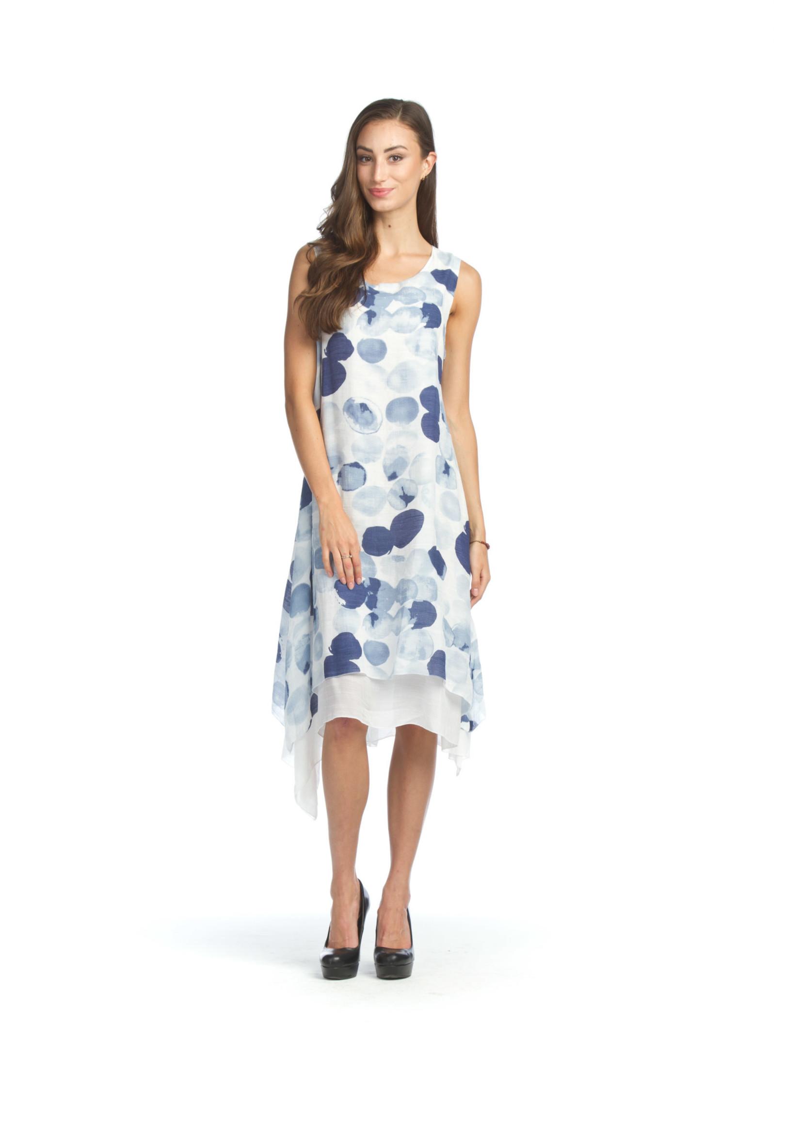 Papillon Polka Dot Layered Crinkle Dress