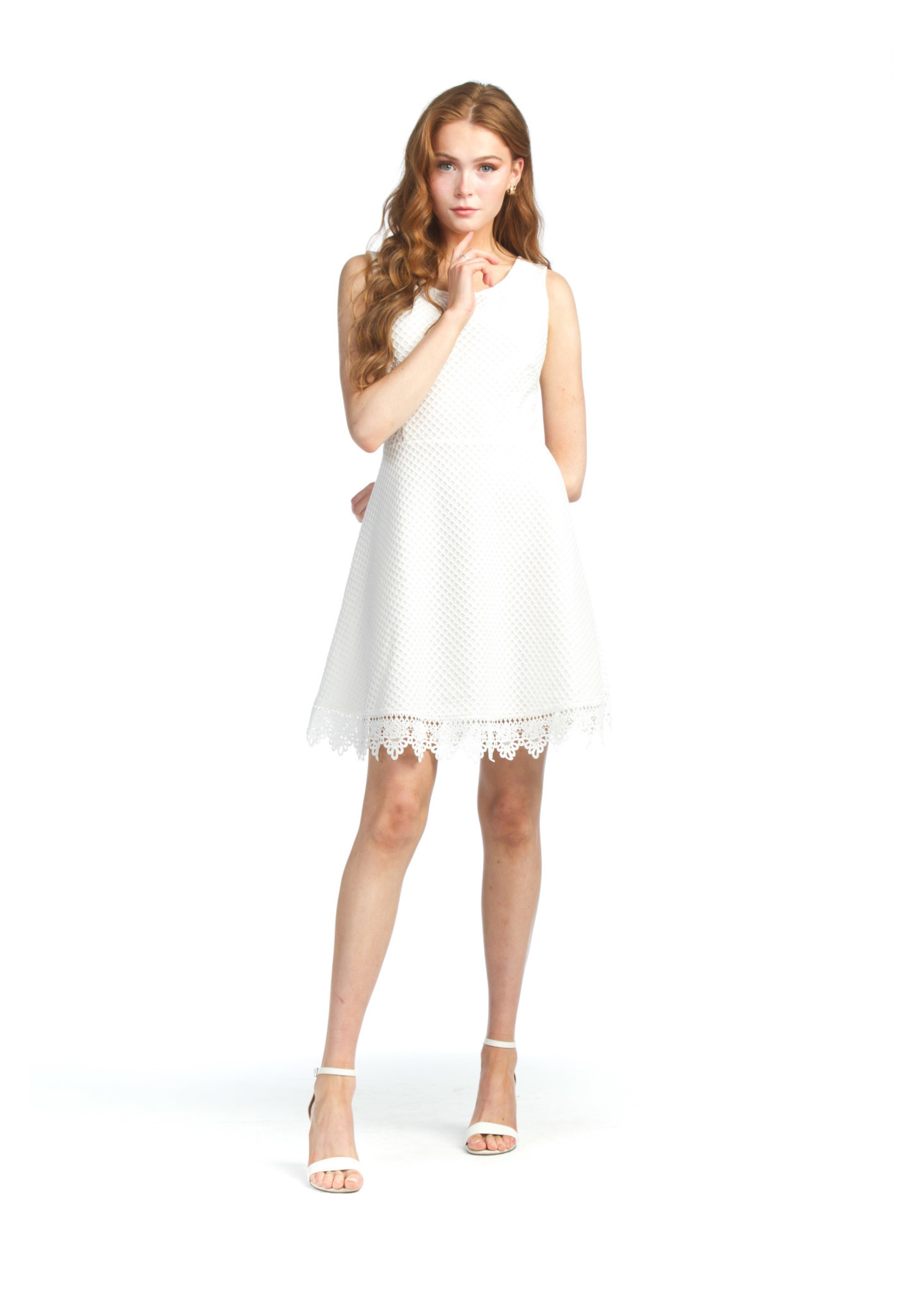 Papillon Eyelet Dress With Lace Trim