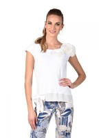 Frank Lyman Off White Knit Top With Tie