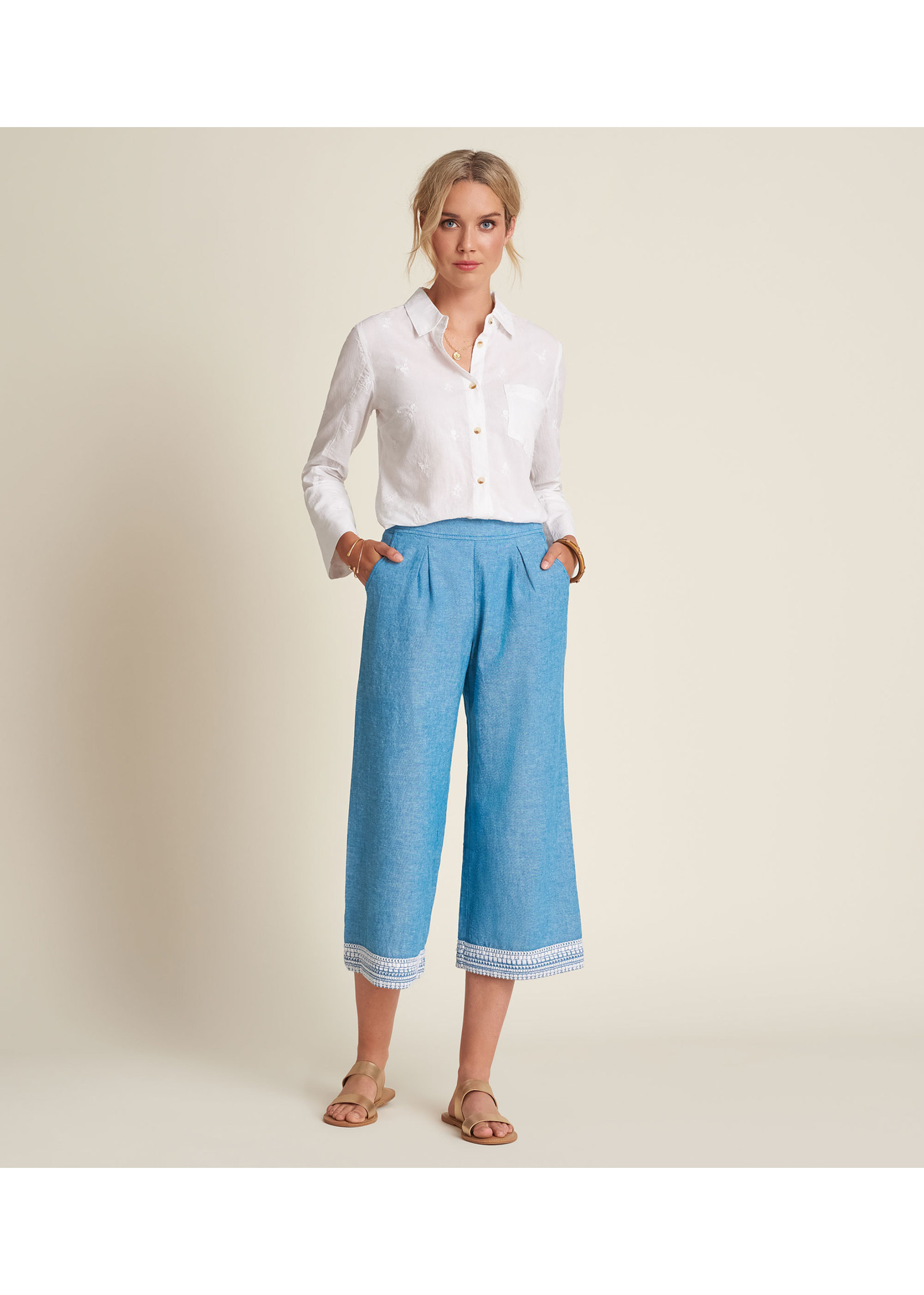 Hatley Cropped Wide Leg Pant