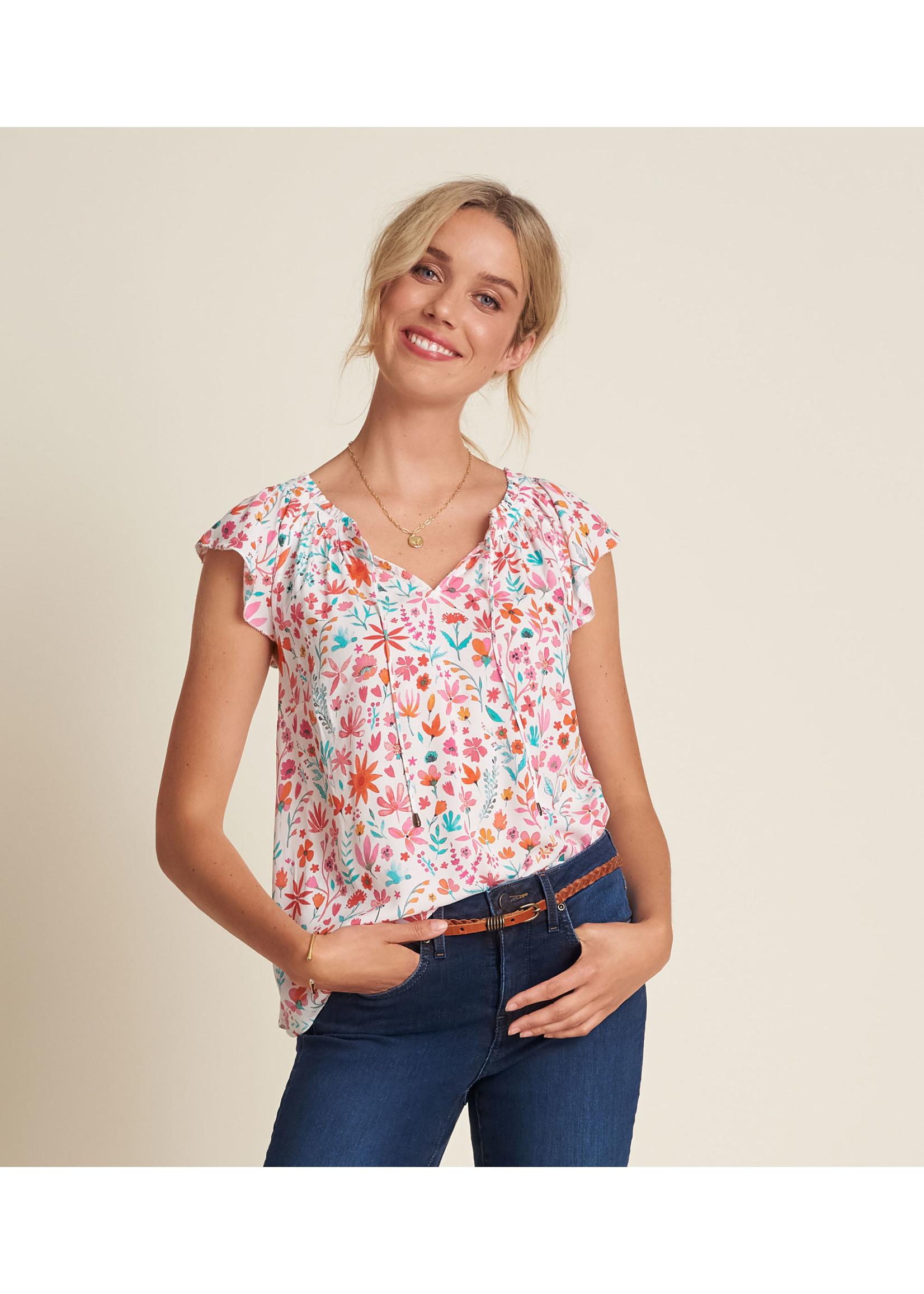 Hatley Flutter Sleeve Blouse Summer Colors