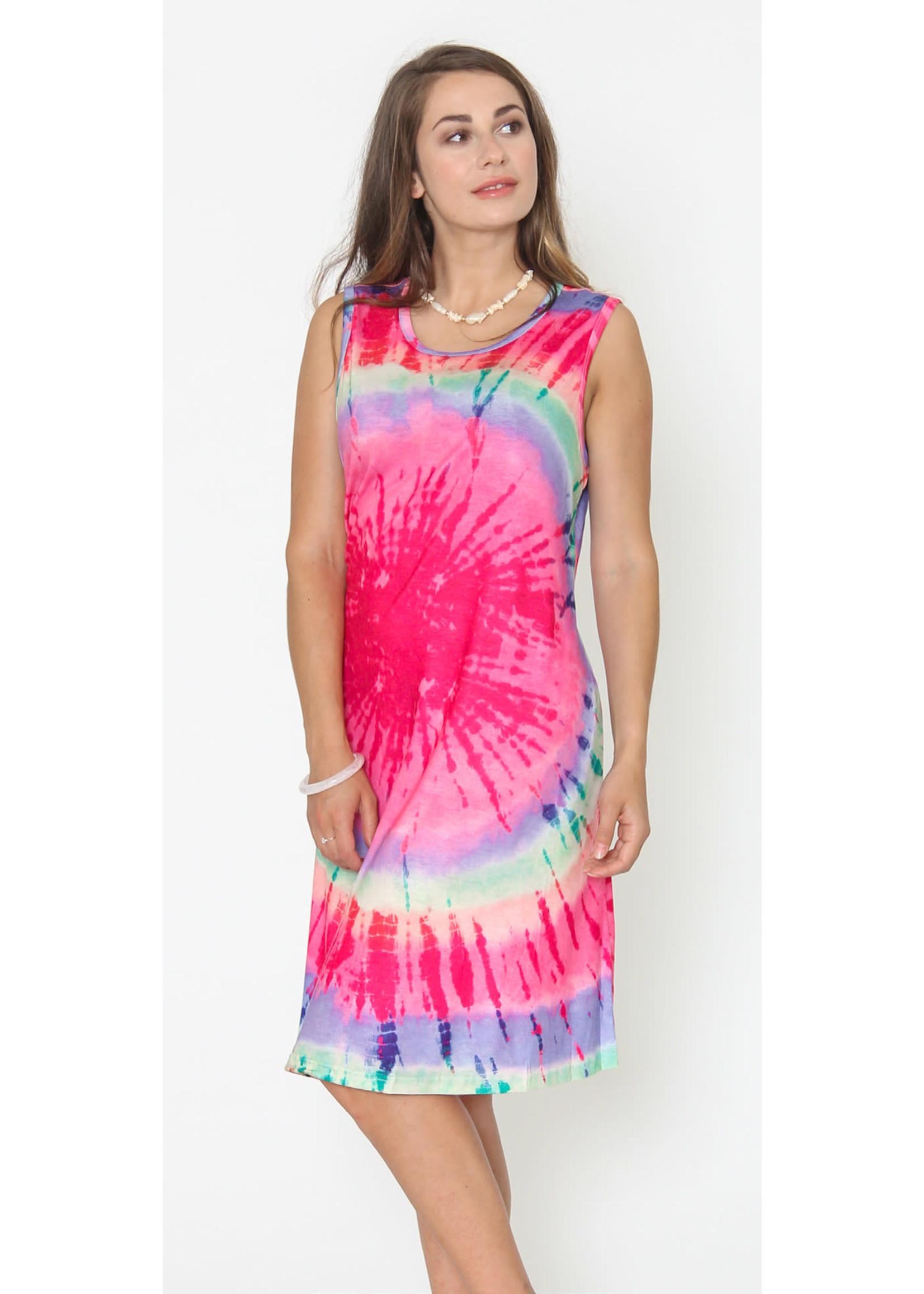 Funsport Pink Tie Dye Dress