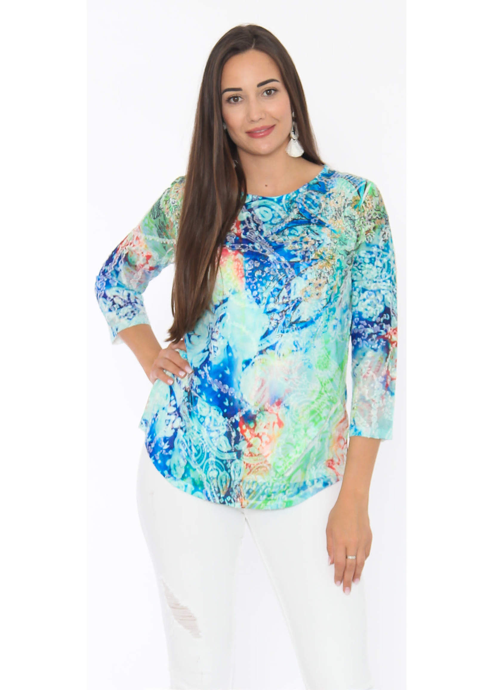 Captiva Saskia Lime Twist Top