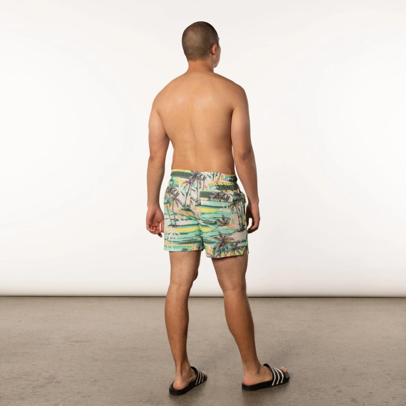 Saxx Oh Buoy  Swim Shorts Green No Bad Days