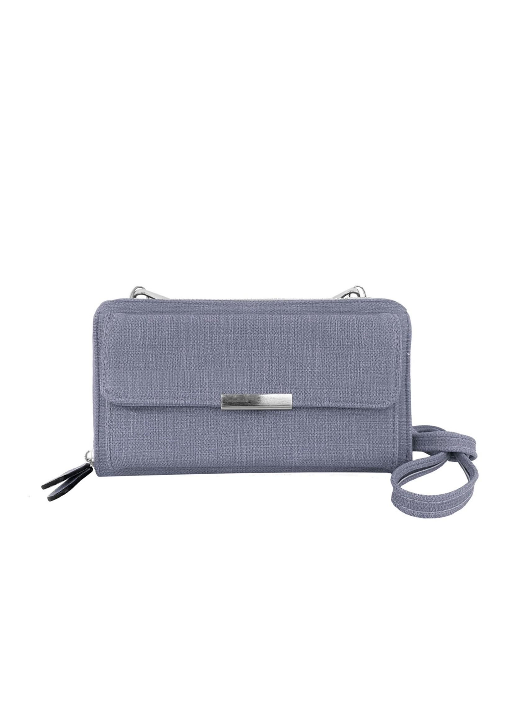 Caracol Light Grey 2 In 1 Purse/Wallet