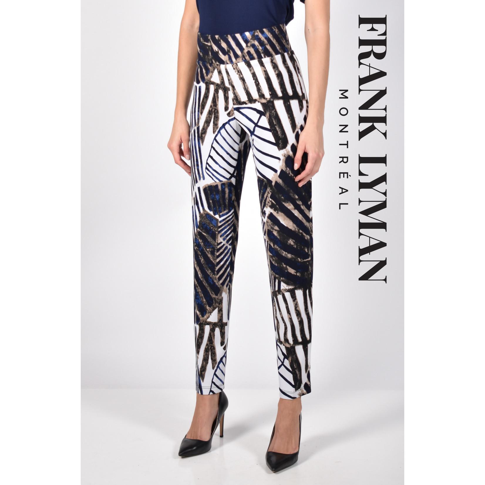 Frank Lyman Blue / White / Beige Knit Pant