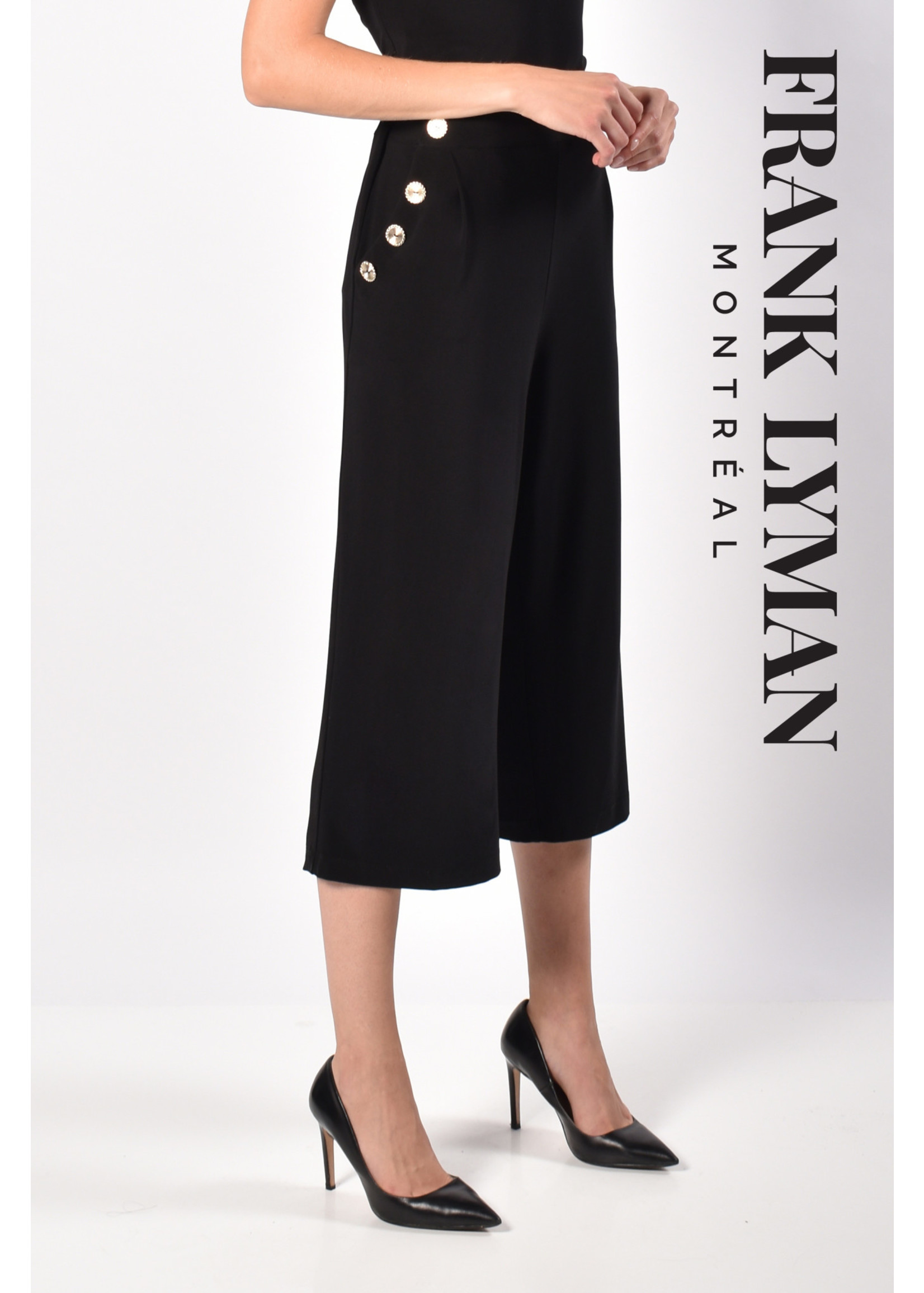 Frank Lyman Black Knit Culottes
