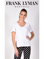 Frank Lyman White Knit Top