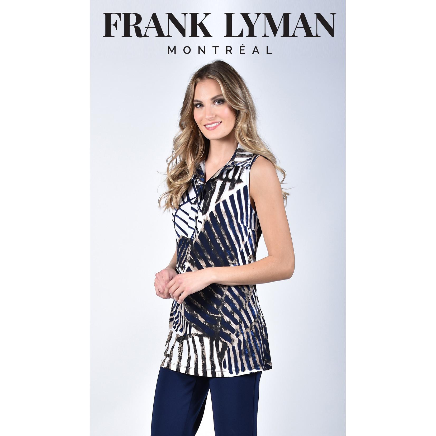 Frank Lyman Blue/White/Beige Knit Tunic