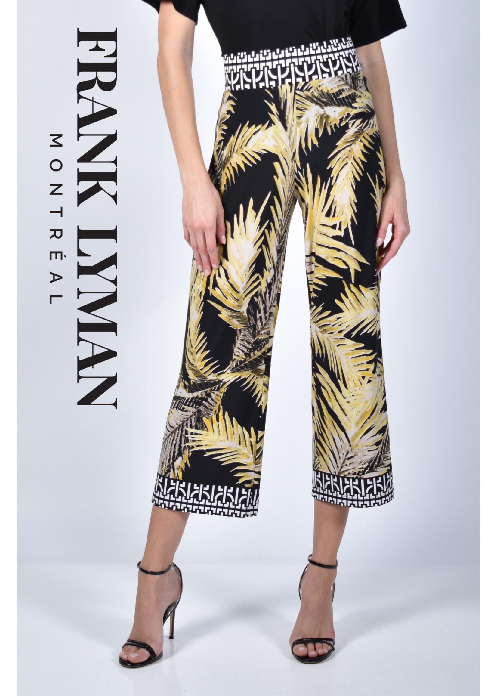 Frank Lyman Black/Yellow Knit Culottes