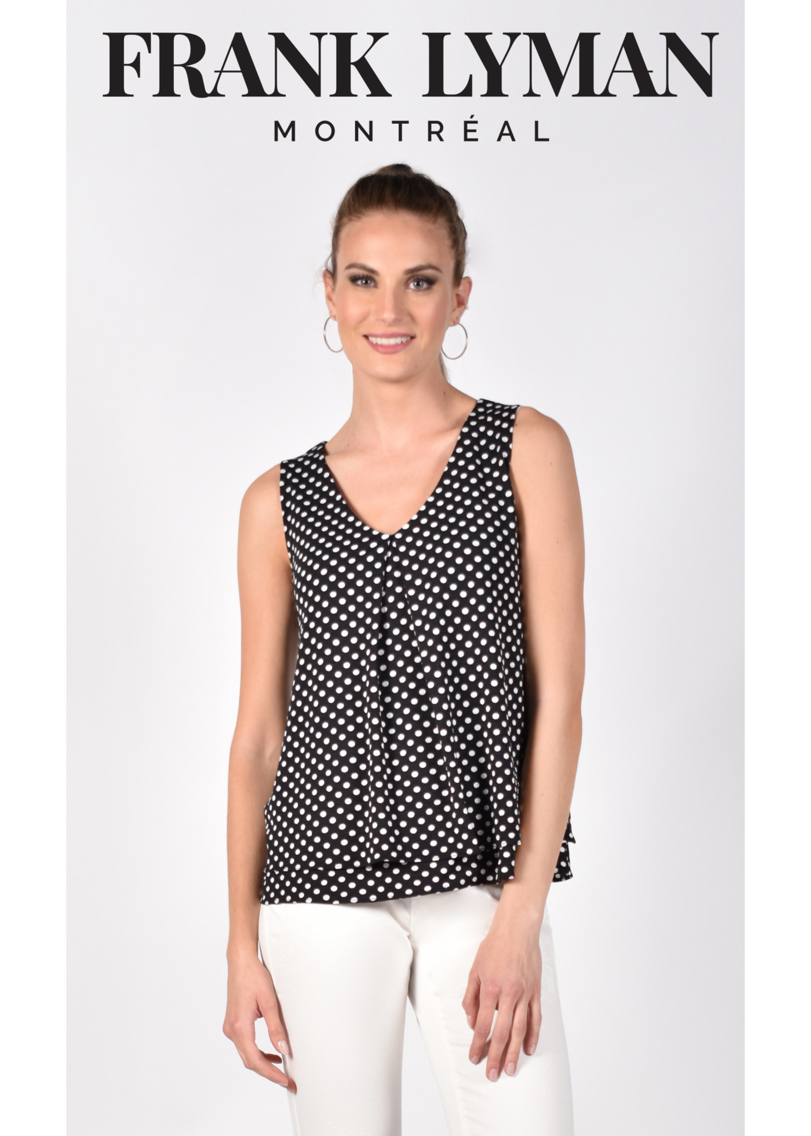 Frank Lyman Black/White Knit Top