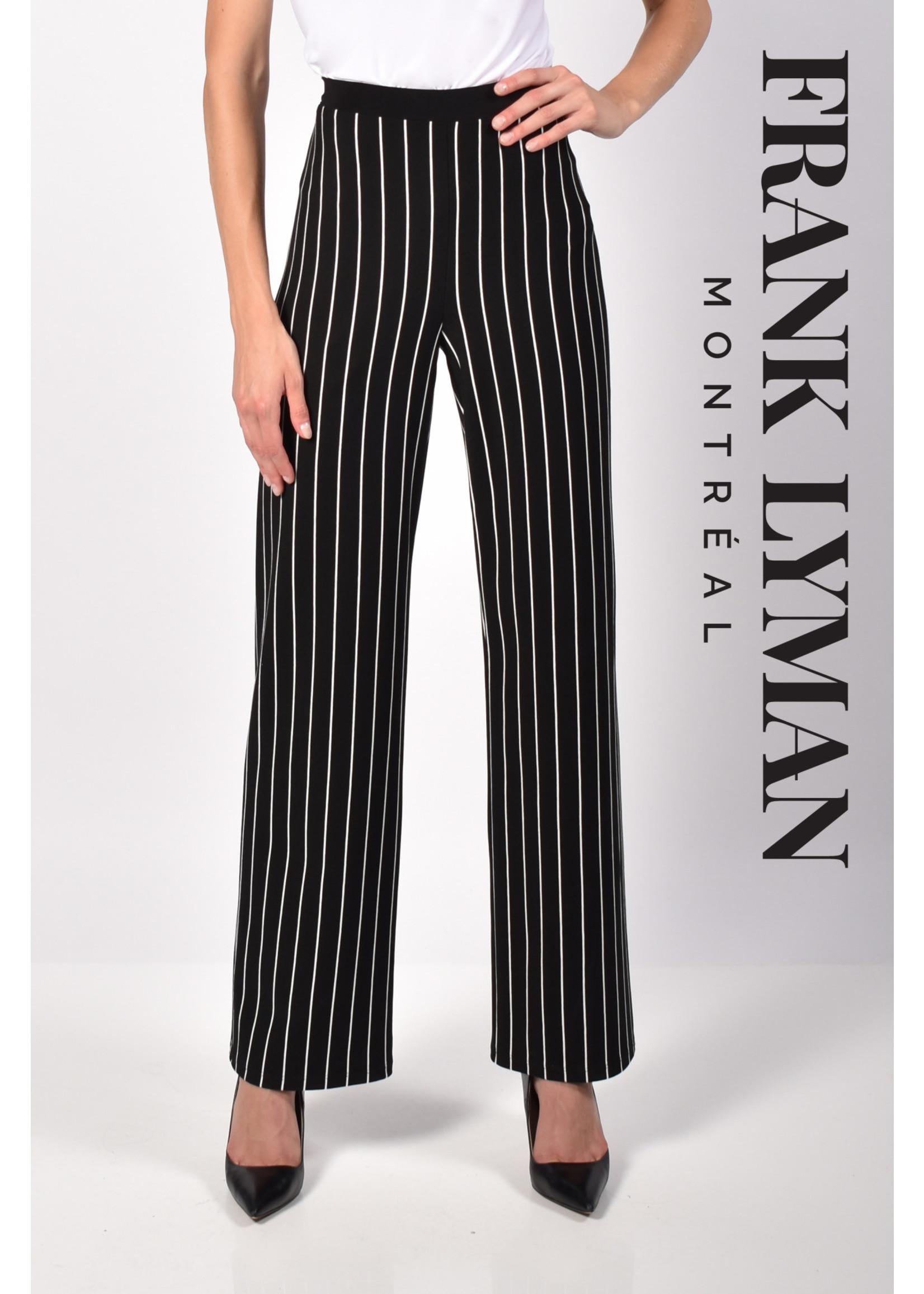 Frank Lyman Black / Offwhite Knit Pant