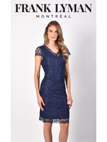 Frank Lyman Navy Woven Dress