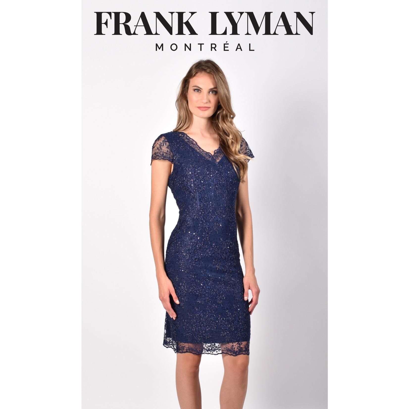 Frank Lyman Navy Woven Dress