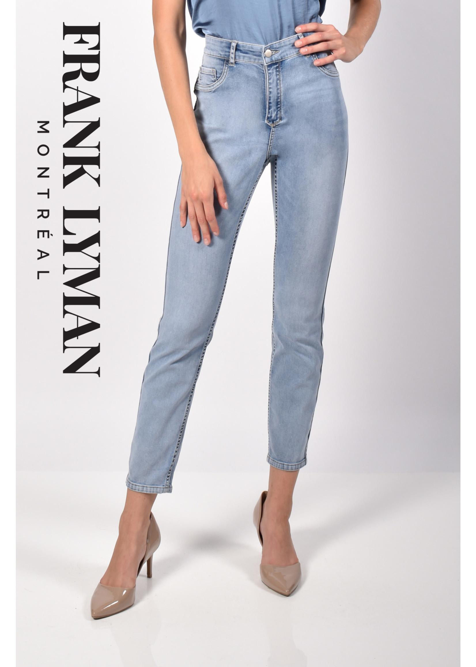 Frank Lyman Dark Blue/Floral Denim Reverisble Pant