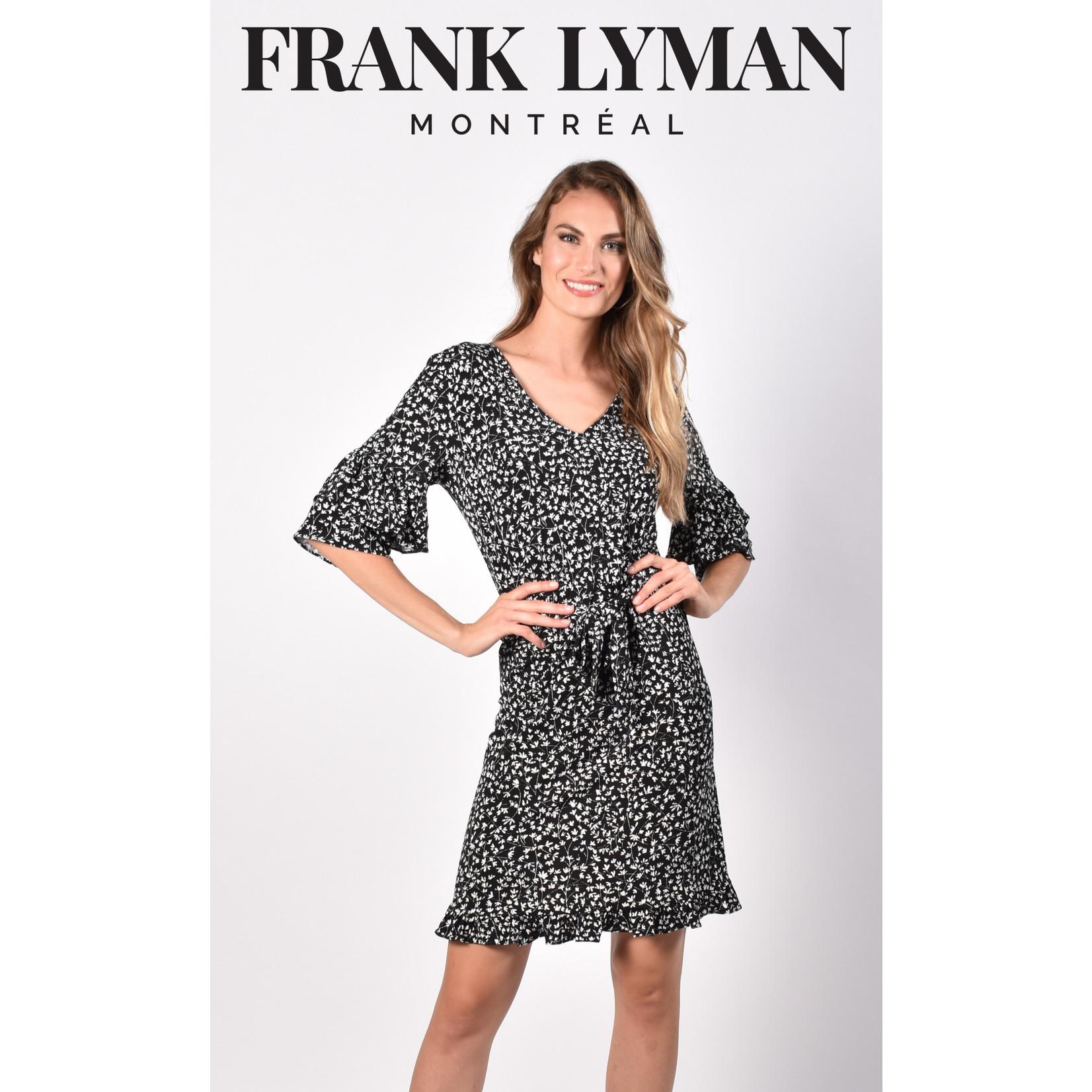 Frank Lyman Black/Off White Knit Dress