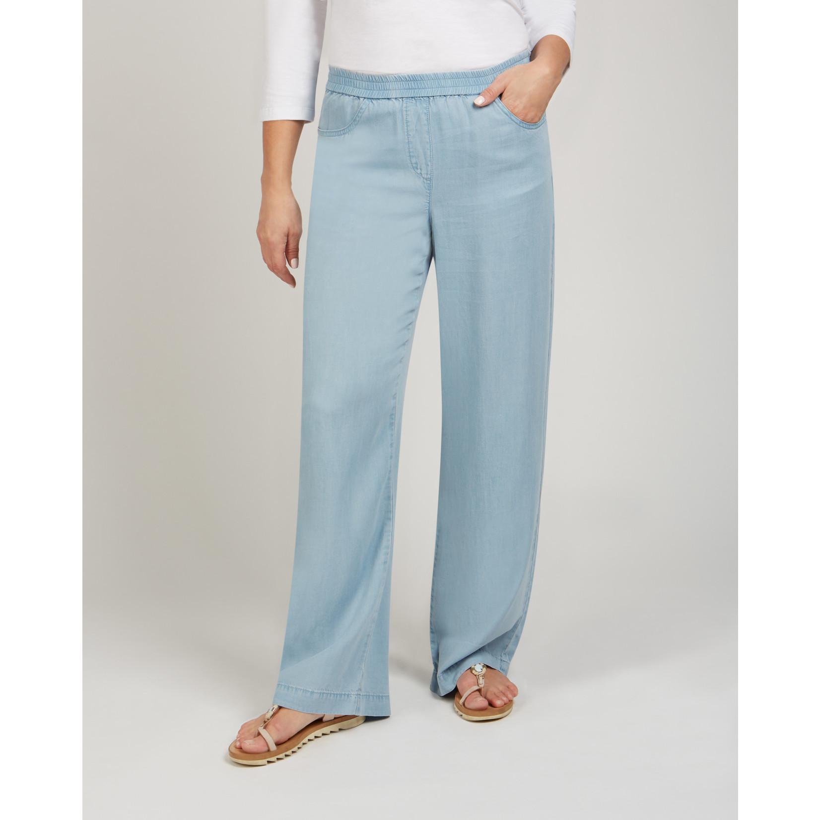 Renuar Light Blue Woven Pant