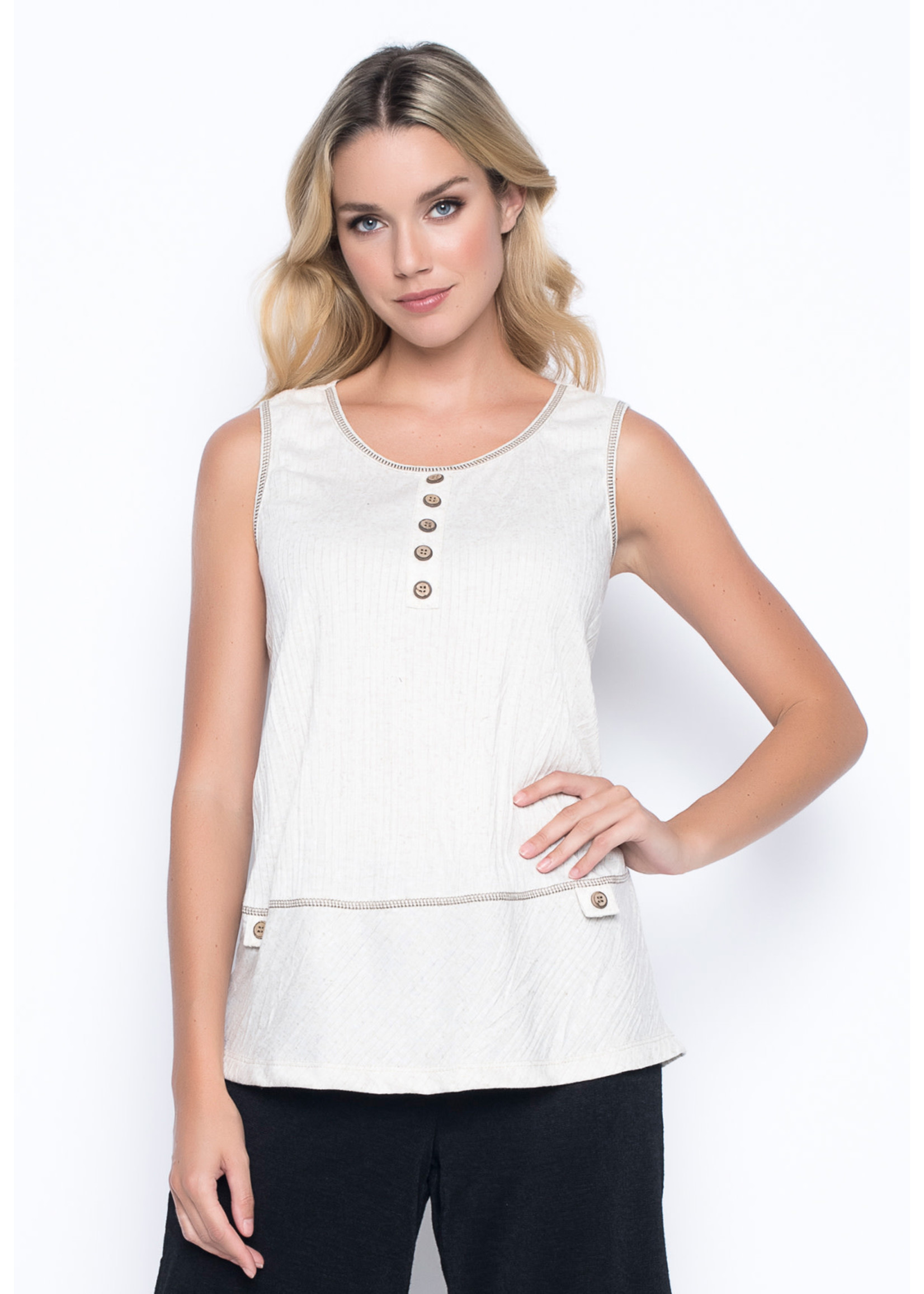 Picadilly Button Trim Tank