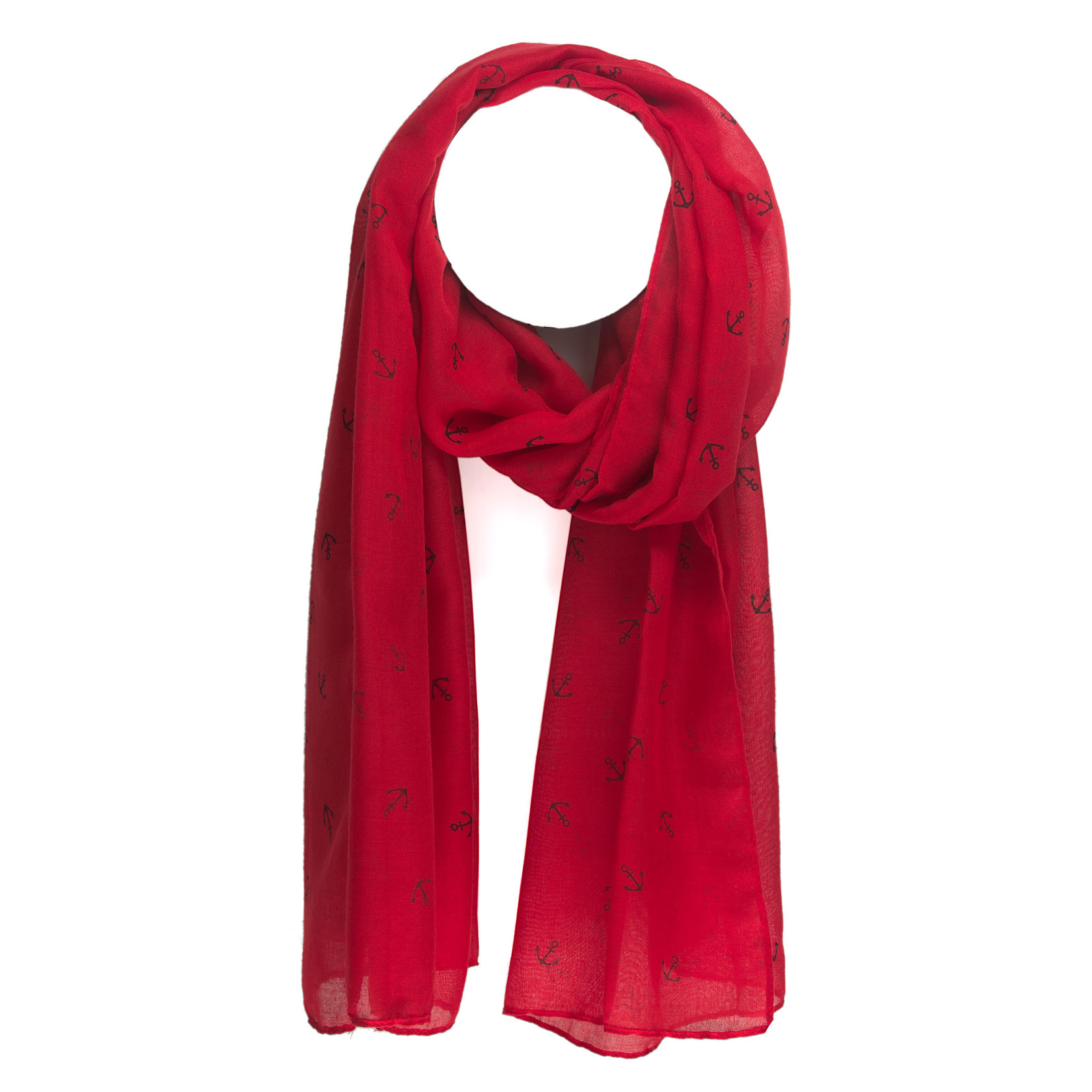 Axelle Red Anchors Scarf