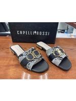 Capelli Rossi Black Multi Leather Sandal
