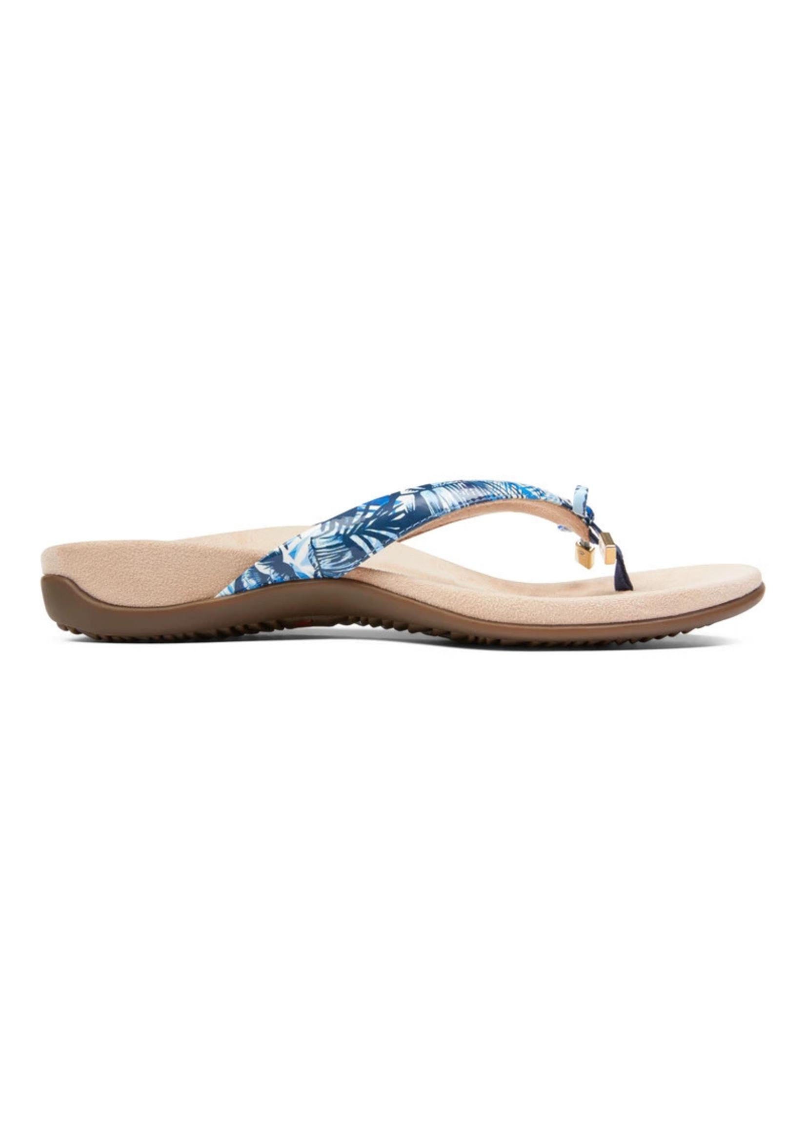 Vionic Bella Toe Post Sandal Blue Palm