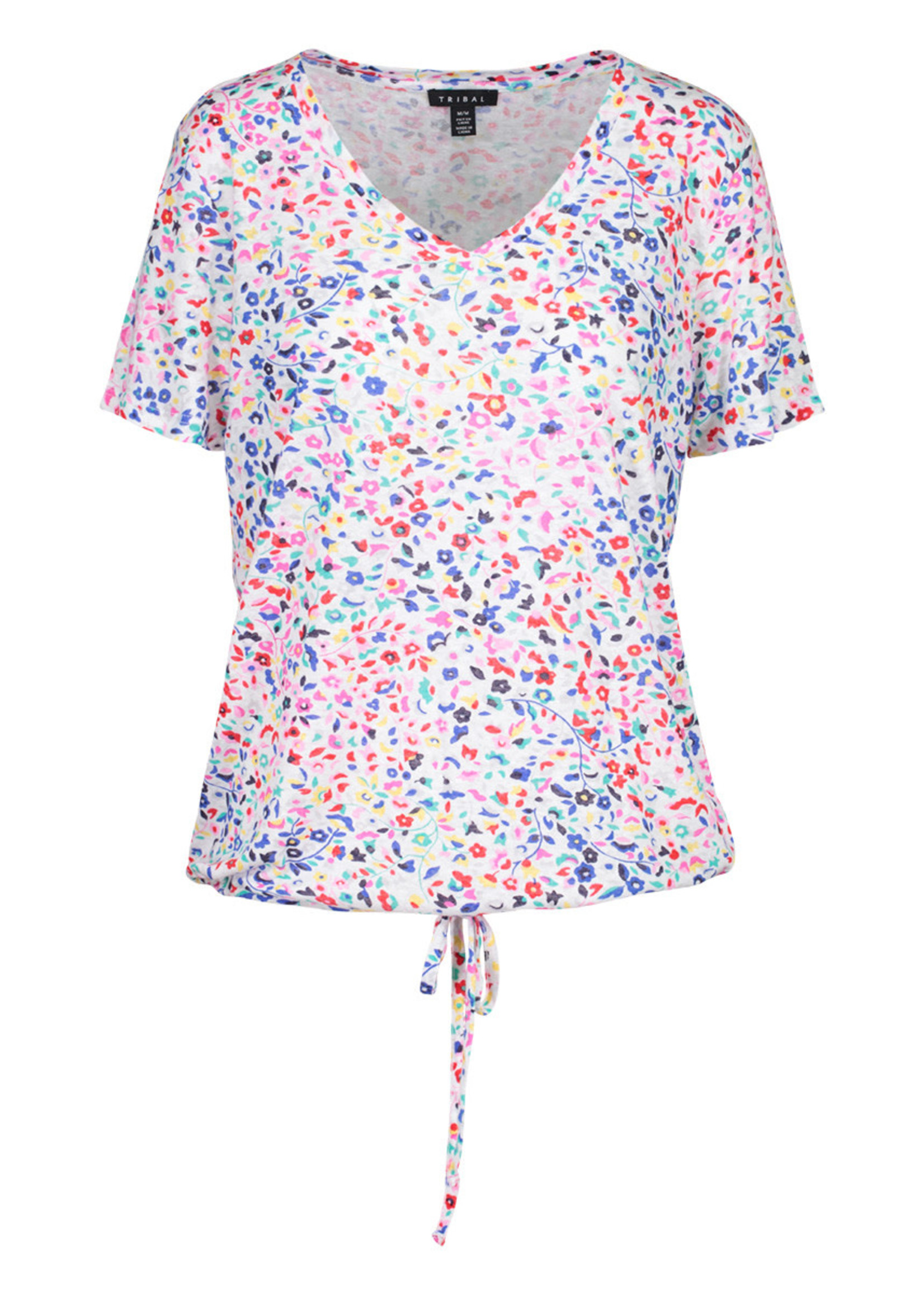 V-neck Top With Drawstring