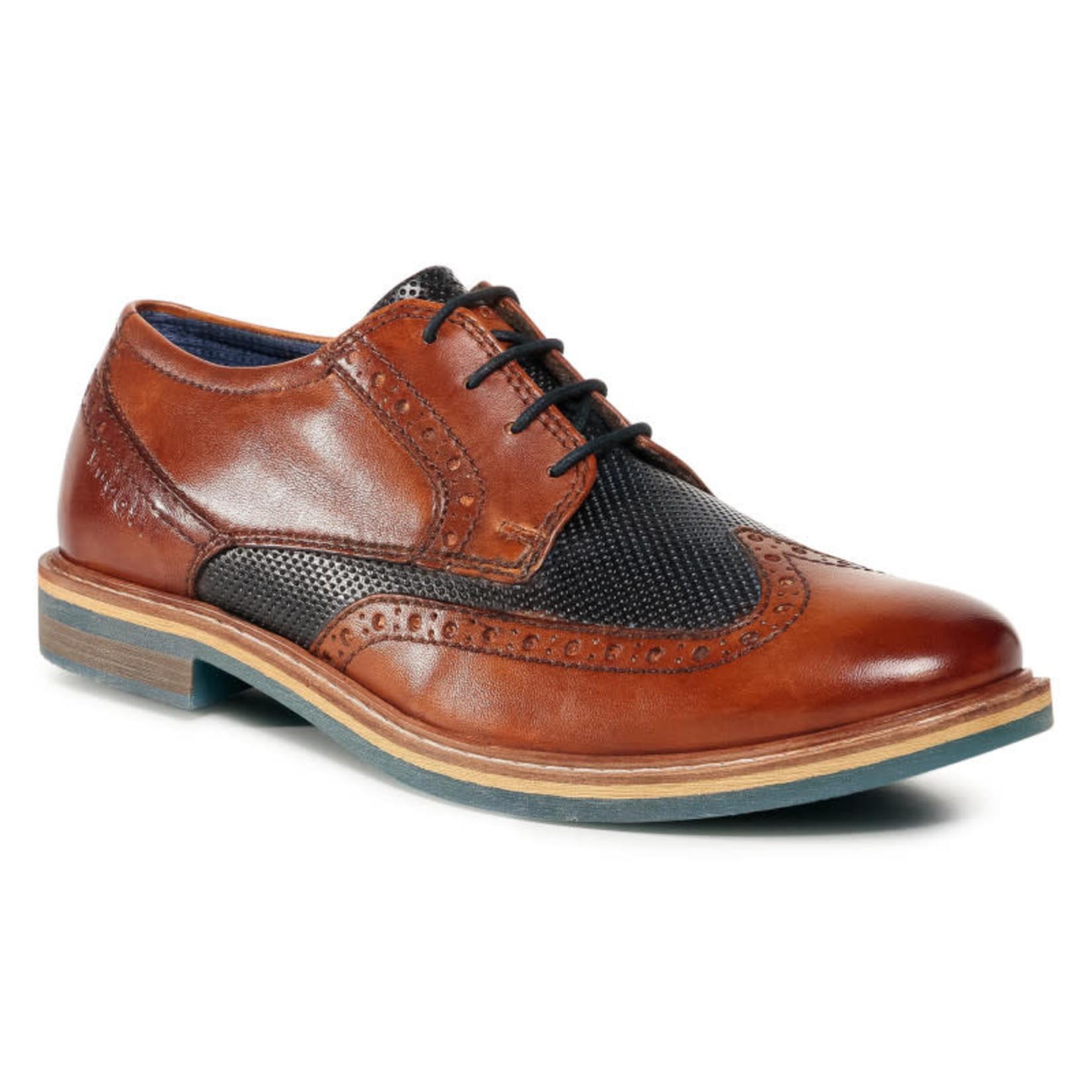 Bugatti Cognac/Dark Blue Shoe