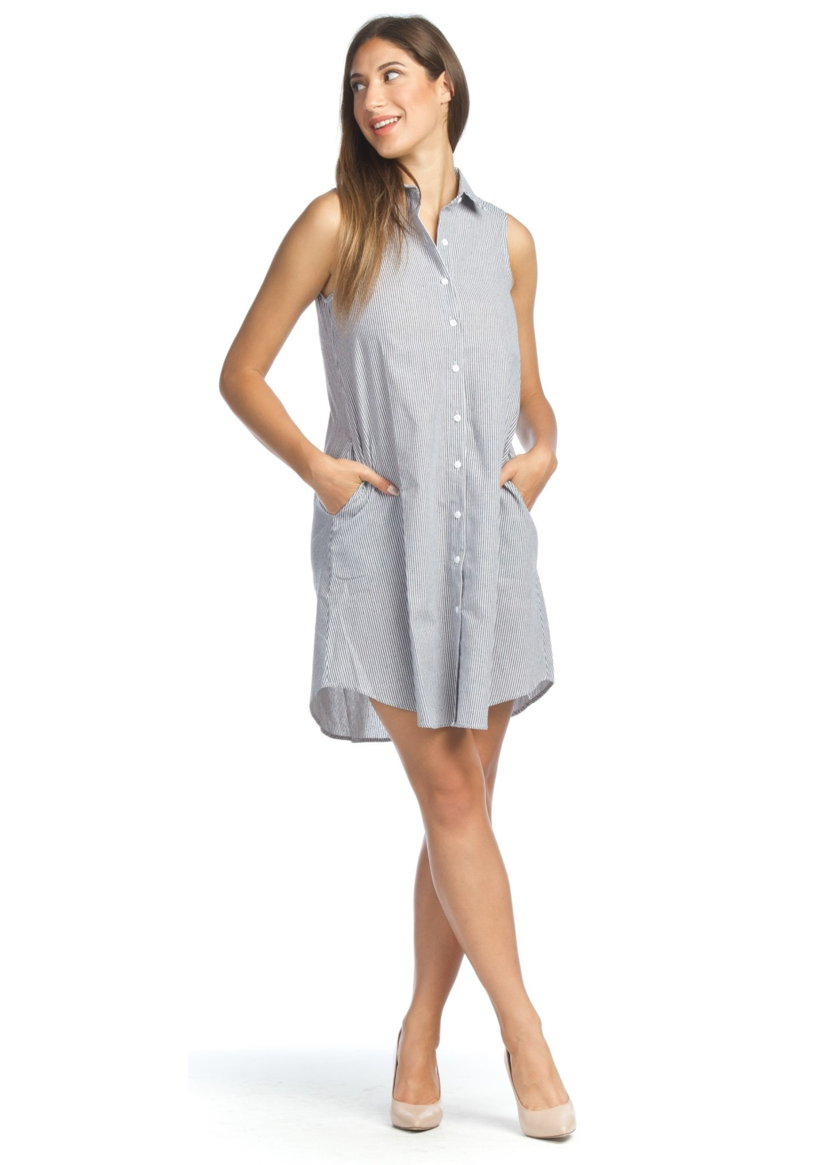 Papillon Button Front A-line Dress