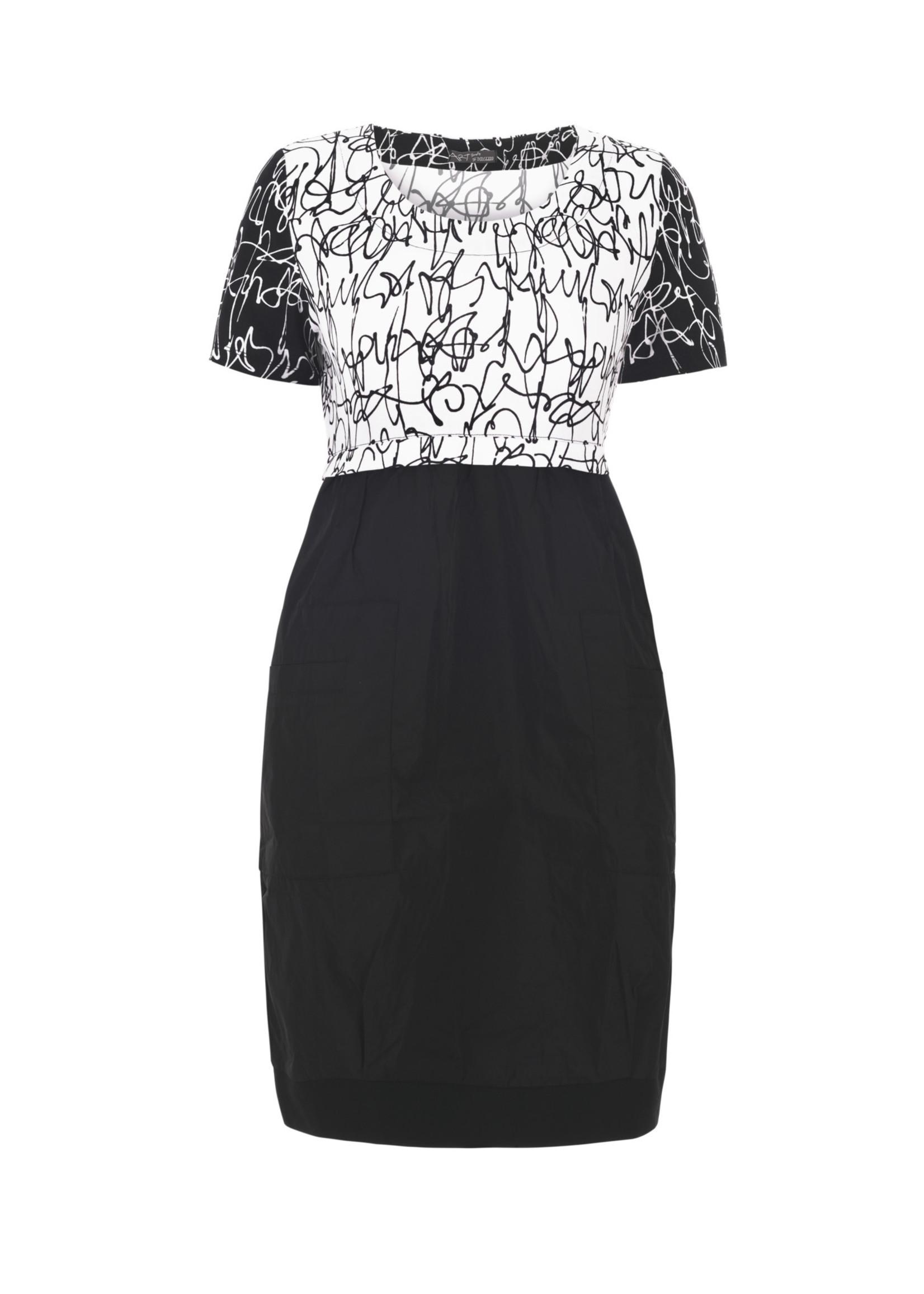 Dolcezza Black & White Knit Dress