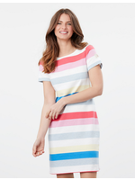 Joules Riviera Printed Jersey Dress with Short Sleeves