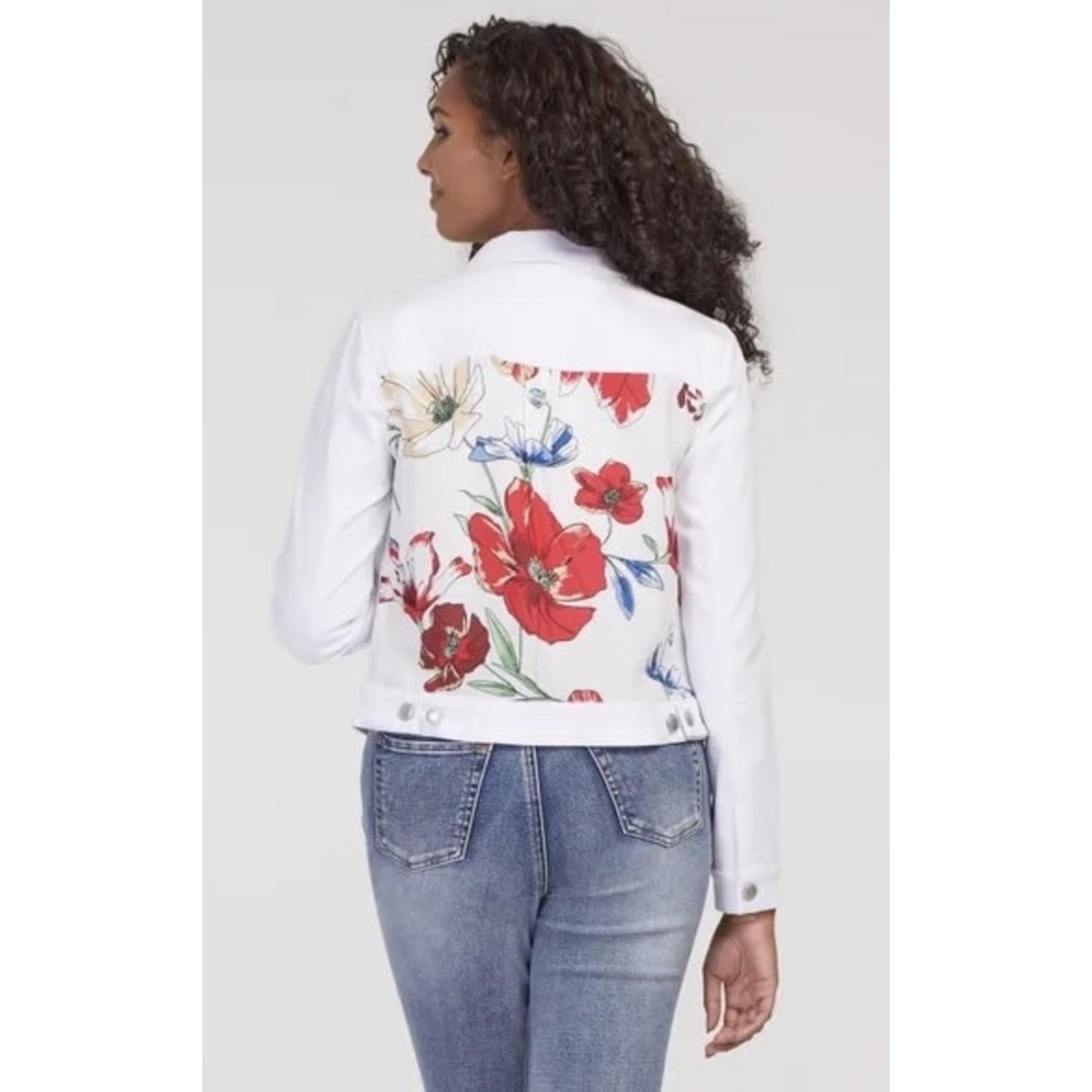 Tribal White / Floral Jacket