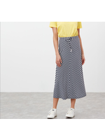 Joules Auriel Navy Stripe Skirt