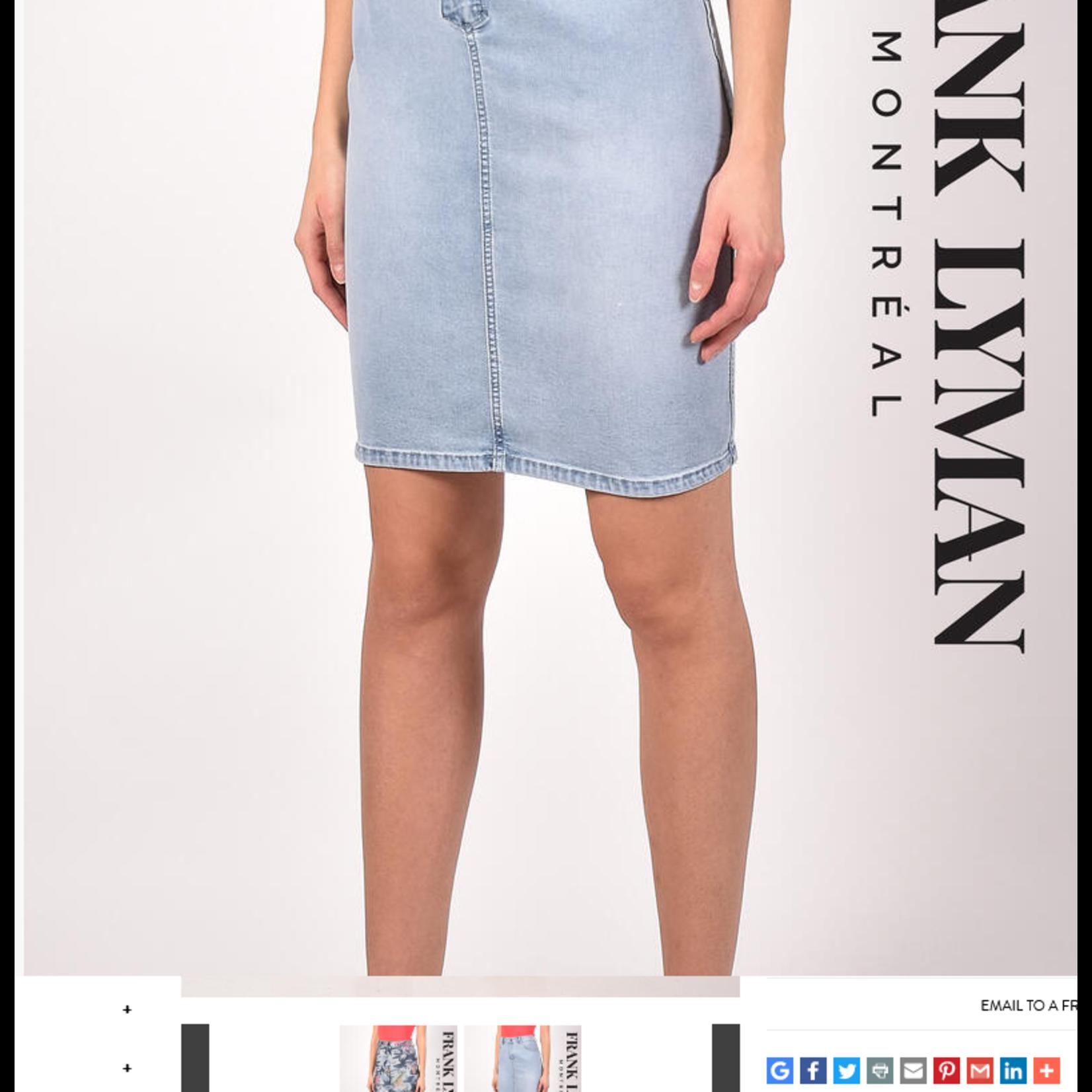 Frank Lyman Blue & Pink Reversible Skirt