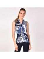 Frank Lyman Blue/Navy Knit Top 211412