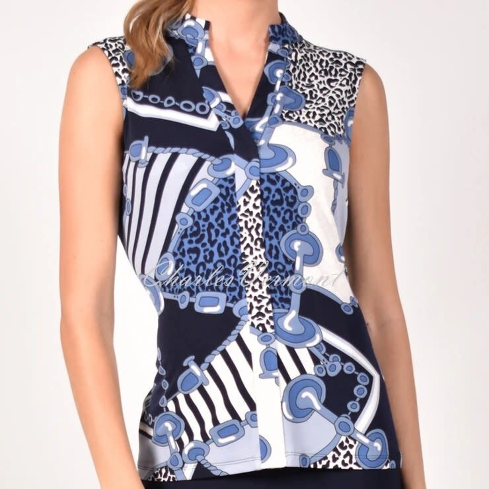 Frank Lyman Blue/Navy Knit Top