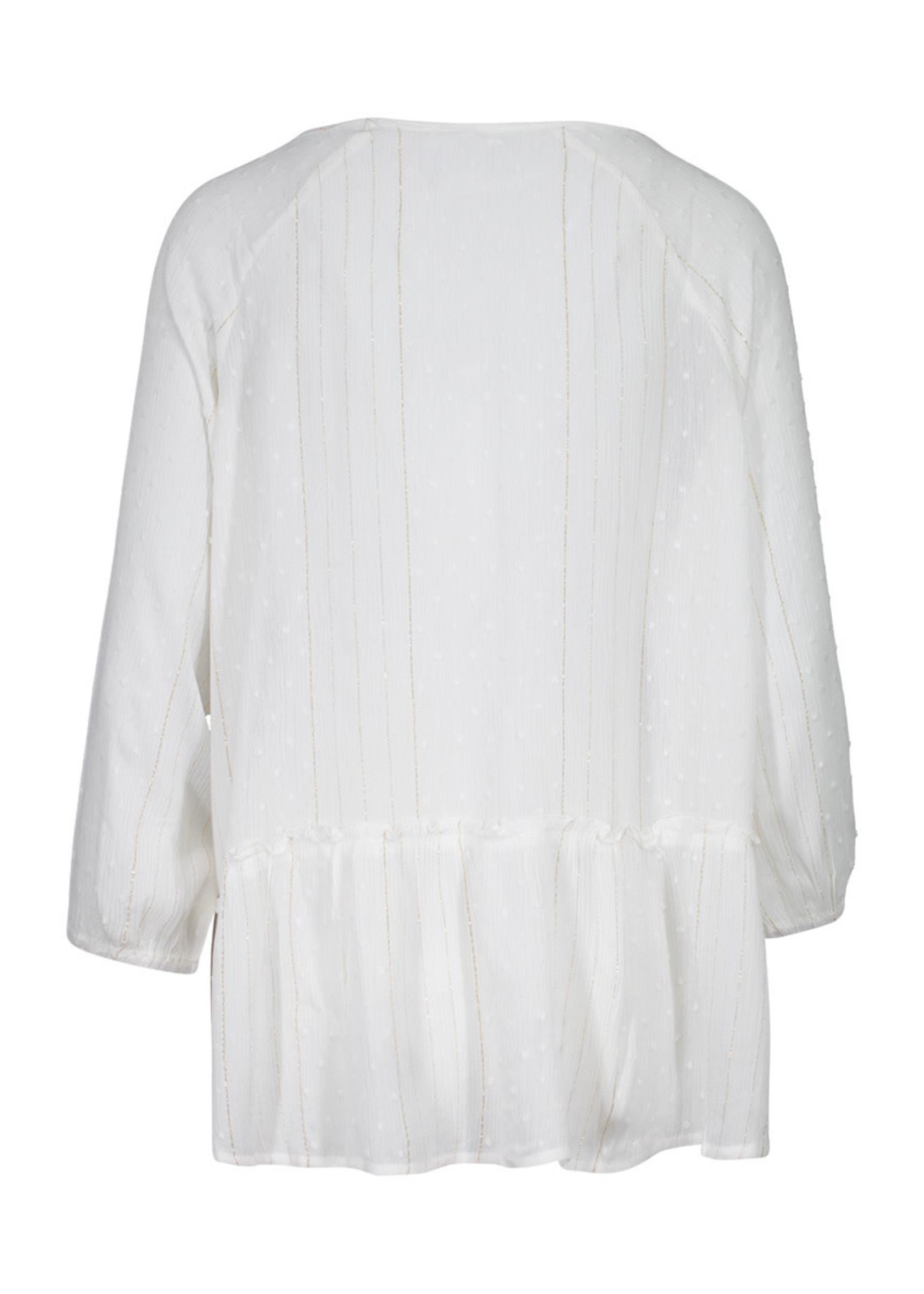 3/4 Sleeve Raglan Sleeve Blouse