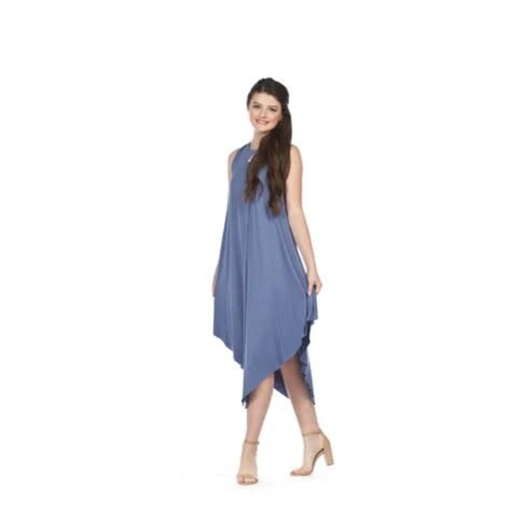 Papillon Solid Jersey Layered Maxi Dress