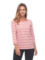 FDJ Fancy Neckline Sporty Stripe 3/5 Sleeve Top